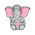 Сlipart Elephant Cartoon Animal Africa African Descent vector icon cut out BillionPhotos