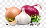 Сlipart garlic mix raw onion isolated photo cut out BillionPhotos