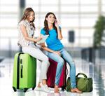 Сlipart Airport Travel Luggage Women Suitcase   BillionPhotos