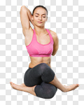 Сlipart yoga woman young hair human photo cut out BillionPhotos