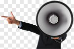Сlipart Megaphone Shouting Announcement Message Pointing Humor photo cut out BillionPhotos