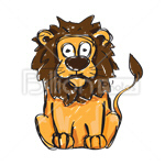 Сlipart Lion Cartoon Animal Undomesticated Cat Africa vector icon cut out BillionPhotos