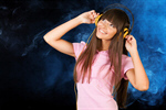 Сlipart Music Headphones Women Dancing Listening   BillionPhotos