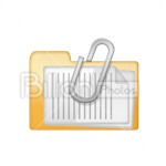 Сlipart Folder Clip File Pin Storage vector icon cut out BillionPhotos
