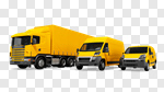 Сlipart Convoy Van Land Vehicle Green Truck 3d cut out BillionPhotos