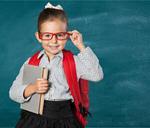 Сlipart kid backpack blackboard smile nerd   BillionPhotos