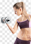 Сlipart health gym woman strong weight photo cut out BillionPhotos