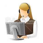 Сlipart Avatar Icon Women Support Consultant vector icon cut out BillionPhotos