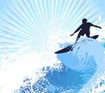 Сlipart Surfing Surf Wave Beach Sun vector  BillionPhotos