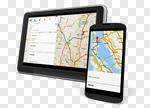 Сlipart Mobile Phone Digital Tablet Web Page Map Internet 3d cut out BillionPhotos