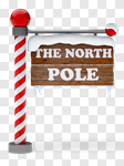 Сlipart North Pole Sign Christmas Snow Directional Sign 3d cut out BillionPhotos