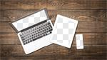 Сlipart laptop tablet phone desk multimedia photo cut out BillionPhotos