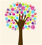 Сlipart Tree Community Human Hand Charity and Relief Work Multi-Ethnic Group vector  BillionPhotos