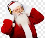 Сlipart music listen winter santa adult photo cut out BillionPhotos
