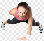 Сlipart sport strength power girl muscular build photo cut out BillionPhotos