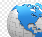 Сlipart USA Map The Americas Globe Three-dimensional Shape 3d cut out BillionPhotos
