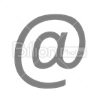 Сlipart @ 'at' symbol 'at' sign E-Mail email mailing vector icon cut out BillionPhotos