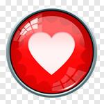 Сlipart heart heart shape heart button favorite favourite vector cut out BillionPhotos