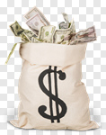 Сlipart Money Bag Currency Paper Currency Wealth Bag photo cut out BillionPhotos