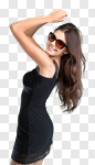 Сlipart girl fashion urban summer brown photo cut out BillionPhotos