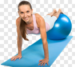 Сlipart Pilates Women Exercising Gym Sport photo cut out BillionPhotos