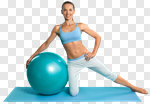 Сlipart Pilates Exercising Women Sport Ball photo cut out BillionPhotos