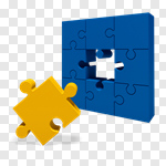 Сlipart Puzzle Jigsaw Piece Jigsaw Puzzle Solution Individuality 3d cut out BillionPhotos