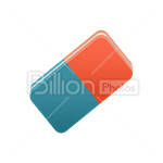 Сlipart Eraser Sketching india rubber rubber Drawing vector icon cut out BillionPhotos