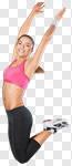 Сlipart fitness jump girl winner training photo cut out BillionPhotos