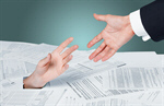 Сlipart The hand reaches for the hand Finance Tax Paperwork Assistance   BillionPhotos