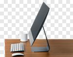 Сlipart desktop desk monitor blank screen photo cut out BillionPhotos