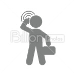 Сlipart Men Telephone Mobile Phone On The Phone Calling vector icon cut out BillionPhotos