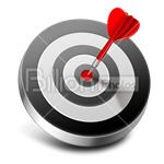 Сlipart Target Hitting Target Dart Dartboard Aiming vector icon cut out BillionPhotos