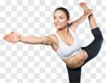 Сlipart Yoga Women Stretching Exercising Sport photo cut out BillionPhotos