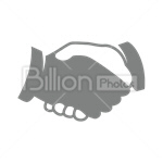 Сlipart Handshake Holding Hands Human Hand Connection Greeting vector icon cut out BillionPhotos