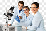 Сlipart Laboratory Scientist Chemist Microscope Research photo cut out BillionPhotos