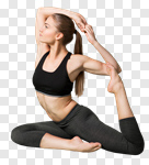 Сlipart yoga pose pigeon asana strength photo cut out BillionPhotos