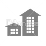 Сlipart House Real Estate Residential Structure Built Structure Building Activity vector icon cut out BillionPhotos