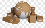 Сlipart Freight Transportation Merchandise Distribution Warehouse Package Earth 3d cut out BillionPhotos