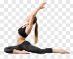 Сlipart yoga girl slim human meditating photo cut out BillionPhotos