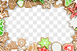 Сlipart gingerbread white paper background closeup photo cut out BillionPhotos
