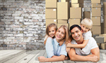 Сlipart family moving house human blond   BillionPhotos