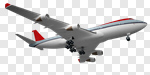 Сlipart Airplane Travel Commercial Airplane Isolated Transportation 3d cut out BillionPhotos