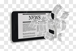 Сlipart Newspaper The Media Mobile Phone Information Medium Telephone 3d cut out BillionPhotos