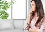 Сlipart fearful woman concerned anxious nervous   BillionPhotos