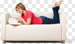 Сlipart Reading Book Sofa Women People photo cut out BillionPhotos